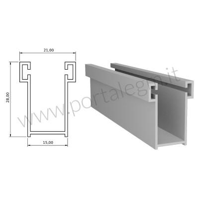 A14 Guida Alluminio 15x28