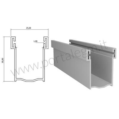 A30 Guida Alluminio 19,5x30