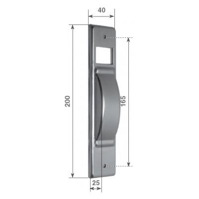 """Placca """"Serie S5"""" in alluminio"""