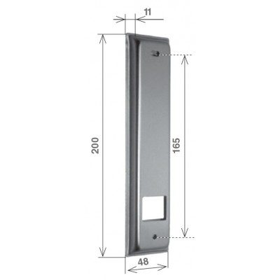 """Placca """"Serie SP"""" in alluminio"""